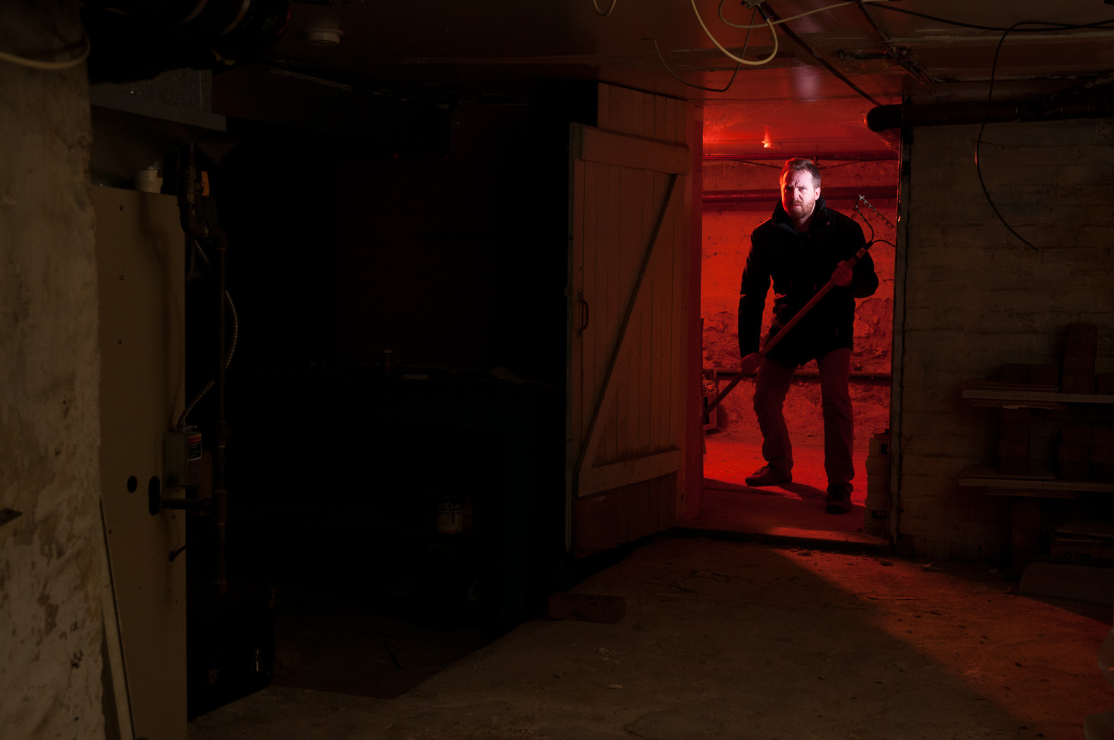 The Making Of A Scary Basement Photo Owen Cherry Photography