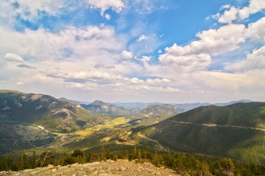View South towards Estes Park.
