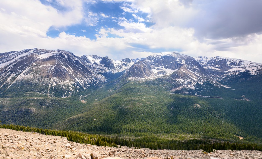Panorama of Long's Peak.