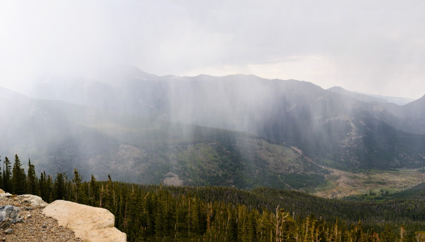 A sudden and violent storm from high on Trail Ridge Road.