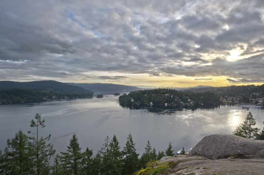 HDR of the view from Quarry Rock